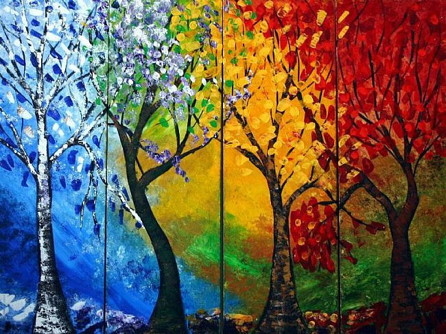 Mural ideas on pinterest collaborative art projects for 4 seasons mural